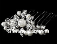 Free shipping 100% guaranteed high level beautiful wedding Hairpins bridal hair  jewelry retail / wholesale