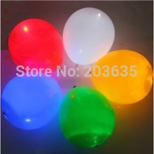5pcs/bag,50pcs/lot Helium Inflatable  RGB flashing led light up balloon,Wedding balloons,