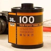 Modelling of creative film paper towels barrels, creative household items