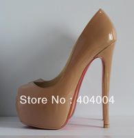 Factory price Daffodil 160mm Pumps various style red bottom high heels US 4-11,Brand platform pumps party dress wedding shoes