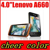 Original Lenovo A660 Phone MTK6577 1.2GHz Dual Core Dustproof WCDMA Android Smart Phone 512MB RAM 4GB ROM Multi Language Root