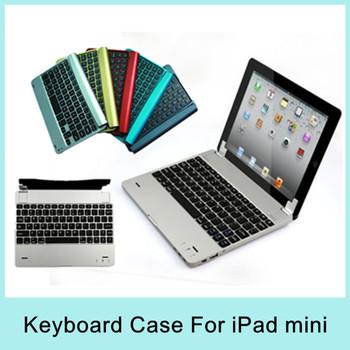 Navy Go Pro Wireless Bluetooth 3.0 Keyboard Case mini PC Aluminum Ultra-thin Design for iPad mini2 New Arrival 2014