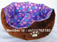 2013 Hot Sale  Warmly Teddy  Purple Colorful Pet home /kennel+Cotton Insert