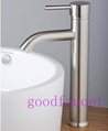 Free Shipping ! Single Handle Bathroom Basin Faucet Vanity Mixer Tap Brushed Nickel Countertop Water Hot & Cold Water Tap