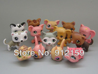 Littlest Pet Shop LPS 14 different pcs /Lot  Action Figures Animal Loose Figures 4-6cm Baby Collection PVC Toys Free Shipping