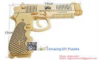 3D jigsaw puzzle brain teaser 3d DIY model assembling toy Pistol