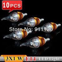 10pcs 3W Perfect E14 AC85~265V white/warm white LED Bulb Light Spot Light LED Downlights