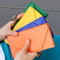 2013 new hot free shippin Candy color long design ultra-thin type card holder wallet coin purse bag envelope