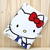 Hello kitty protective hard case for iPad 2 2G, Hello Kitty Plastic Hard Back Case for iPad 2, Free Shipping!