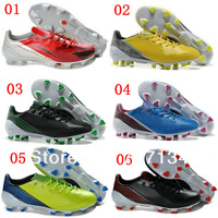 Free Shipping 12colors Soccer Shoes for Men's Outdoor Athletic Trainers FG Sole Ship via EMS us6.5-12size Mix Order