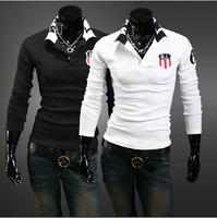 Free shipping classic RL prining casual POLO shirt fashion polo long sleeve men shirts