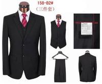 Free shipping! 2013 new style fashion suits for men business suits  men wedding boss  dress suit coat+pants+vest 4XL