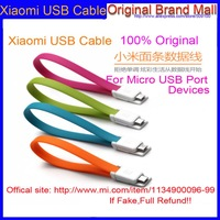 Original XIAOMI Cable Colorful Noddle Portable Universal Micro USB Data Charger Cable For xiaomi 3 Mi3 MI2s 2 2A Hongmi Phone