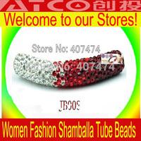 Free Shipping Good Looking Shamballa Crystal Tube Bead Wholesale 10pcs lot