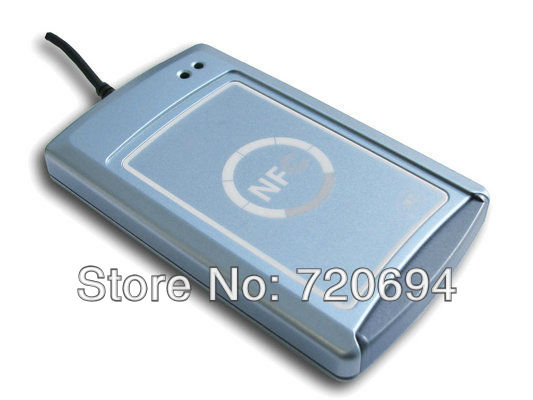 Free shipping ACR1222U Dual-Interface USB RFID Card Reader with 2pcs mifare blank card+Software CD(China (Mainland))