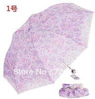 Free Shipping Anti-uv umbrella double layer embroidered paillette ultra-light sun protection umbrella