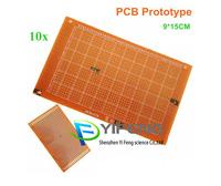FREE SHIPPING 10PCS 9*15 cm breadboard Printed Circuit Board Universal board Test board PCB