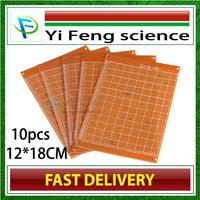 FREE SHIPPING 12*18CM  universal board 12*18CM  universal board / Pegboard / experimental board / bakelite PCB board