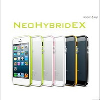 1Piece SPIGEN SGP Neo Hybrid EX Case For iphone5 5S & Full Body Film & Home Button & Packing, HK Post Free Shipping (PG0502)