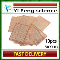 10Pcs DIY Prototype Paper PCB Universal Experiment Matrix Circuit Board 5x7cm [11651|01|01] Free shipping