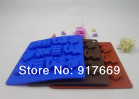 Silicone Chocolate Mold Cookie Baking Pan Ice Mould Fondant Cake Decorating Tools Cake Tools Kitchen Acessories (FDCH-012)