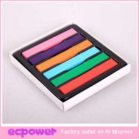 6 pcs Color Jumbo Chalk Temporary Bright Color Hair Chalk Colorful Hair DIY (chalk pastels hair) 10packs/lot free shipping