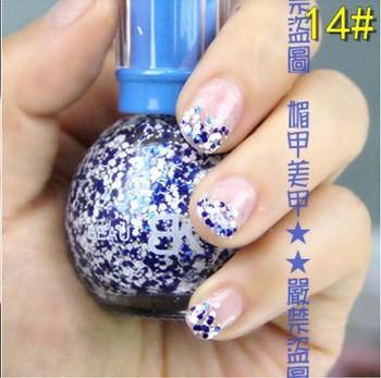 Spring New product Nail Beauty Snowflake nail polish Varnish 6pcs/lot Free shipping