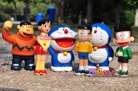 6 Pieces 12CM High DORAEMON Dolls   Action Toys  Figures TA0034