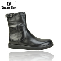 Free shipping autumn winnter Villus leather mens boots tall
