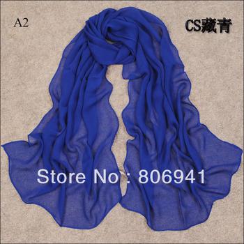 H016 beautiful plain chiffon scarf,new style long muslim scarf,24 colors
