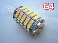 2 X G4 6W led corn bulb, 102pcs 3528SMD high power brightness, white and warm white led lamp, free shipping