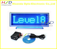 Blue LED scrolling sign message display board desk panel advertising/program rechargable/ support multi-language 16*48 dots
