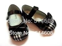 #6560 Exported quality plaids canvas female child elegant princess shoes