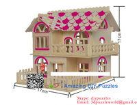 3D jigsaw puzzle brain teaser 3d DIY model assembling toy Roman time cabin