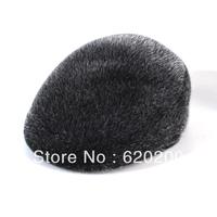 Free shipping Cap quality seals fur straw hat male benn forward cap winter warm hat
