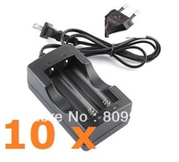 10 x 18650 Battery  Charger for Dual 18650 Rechargeable Li-Ion Battery 4.2v, 3.7v, EU, US power Plug
