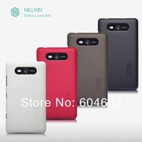 Genuine Nillkin Super Shield Shell Hard Case Cover Skin Back + Screen Protector For NOKIA Lumia 820