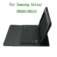Cover Case for Samsung Galaxy Note 2 10.1'' N8000/8010  tablet USB Bluetooth keyboard  leather shell  Free shipping