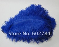 Free shipping dark  blue Ostrich Feathers 50pcs/lot 35-40cm 14-16 inches ostrich plumage wedding decoration feather