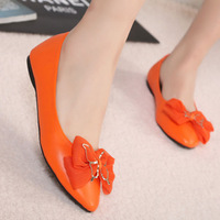 2013 New Spring OL's Sexy Lace Bow-Knot Sequined Flat Toe Shoes Ballet Shoes X181