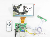 "New Free shipping HDMI+VGA+2AV+Remote Controller+7""TFT INNOLUX AT070TN92 50 Pin LCD Screen 800x480"