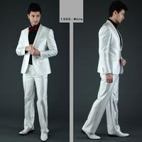 Men's wedding suit fashion formal suit for men slim fit white/black brand tuxedo two pieces coat and pants