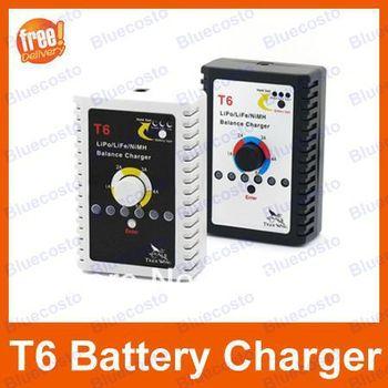 2~6S LiPo/Lion/LiFe 2~15S NiMH/NiCD batteries T6 Compact Charger Imax B6 T Plug Charger