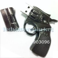 New Arrive Metal Revolver Gun USB 2.0 Enough Flash Memory Stick Pen Drive 2GB/4GB/8GB/16GB/32GB #X