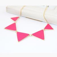 Canlyn Jewelry ( 2 pcs/lot) Trendy Triangle Enamel Statement Necklaces & Pendants Collar Collier bijuterias CX272