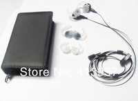 Free Shipping+Drop Shipping Wholesale IE2 in ear audio headphones for portable players /mobile phone in new box