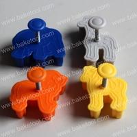 Plastic 4pcs Animal shape plunger cutter set