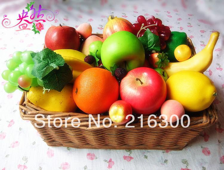 Vegetable decoration promotion online shopping for for Artificial fruit for decoration