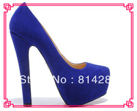 Fashion sexy  new design genuine leather platform pumps high heel ladies' dress shoes