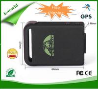 Free shipping mini gps tracker tk102b vehicle Tracker TK-102, 4bands GSM/GPRS/GPS  Rastreador Veicular Localizador Gps Pessoal